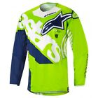 2018 Alpinestars Youth Racer Venom Jersey Green Flo/White/Blue