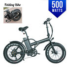 BPM F-15 New Fat Tire Electric 20' E Bike Bicycle 500watts 48v LED Folding