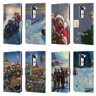 OFFICIAL LONELY DOG CHRISTMAS LEATHER BOOK WALLET CASE COVER FOR LG PHONES 2