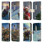 OFFICIAL LONELY DOG CHRISTMAS LEATHER BOOK WALLET CASE COVER FOR MOTOROLA PHONES