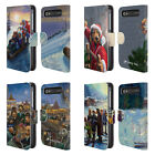 OFFICIAL LONELY DOG CHRISTMAS LEATHER BOOK WALLET CASE FOR BLACKBERRY ONEPLUS