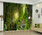 Forest Deer Scene Window Curtains Mural 3D Photo Printing Blockout Drapes Fabric