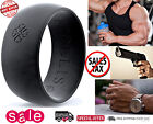 Silicone Wedding Band Ring Men Flexible Antibacterial Rubber Active Lifestyle