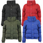 ladies jacket Brave Soul womens coat padded quilted bomber funnel neck winter