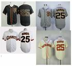 Barry Bonds 25 San Francisco Giants Baseball Jersey Men Throwback STITCHED