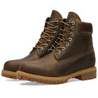 TIMBERLAND 6 INCH PREMIUM BOOT BROWN FULL GRAIN LEATHER STYLE TB027097