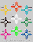 """3"""" Zia New Mexico State Flag Symbol Vinyl Decal Sticker Many Colors"""