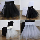 CHAIR SASHES Tulle Tutu with Spandex Wedding Reception Party Decorations SALE