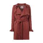 REVIEW Damen Jacke DRAPE TRENCH Trenchcoat Rot Rost XS S L