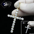 Men 925 Sterling Silver Icy Diamond Silver/gold Bling Cross Charm Pendant*sp170