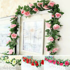 7ft Artificial Silk Rose Flower Ivy Vine Leaf Garland Wedding Party Home Decor