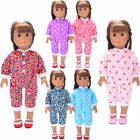 Handmade Doll Clothes Pajamas Sleepwear Accessory for 18 inch Girl Doll toy gift