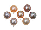 Natural Extra Fine Pink Rose Freshwater Pearl - Round - Half-Drilled - China - A