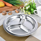 Stainless Steel Food Plate School Cafeteria Party Dinnerware Divider Plate