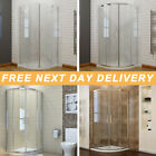 Quadrant Shower Enclosure Frameless Hinge And Tray Cubicle Glass Door+FREE Waste