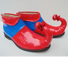 Womens Showing Club Patent Leather Ankle Boots Anime Clown Cosplay Shoes A575
