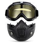 New! MT-009 Motorcycle Anti-UV Detachable Goggles +Mask for 3/4 Open Face Helmet