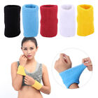 5 Colors Sport Sweat Wrist Protection Band Elasticity Spandex Cloth Tennis Yoga