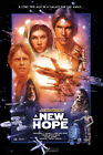 STAR WARS A NEW HOPE V1 MOVIE POSTER CHOOSE SIZE $35.88 AUD