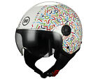 CASCO MOTO BHR DEMI-JET MOD ONE 801 MULTICOLORE