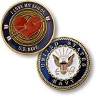 U.S. Navy ~ I Love my Sailor ~ Challenge CoinOther Jewelry & Watches - 98863