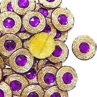 Designer Beaded Appliques Round Shape Sewing Apparel Dress Patch 12 Pcs