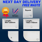 Stone Shower Tray Quadrant Rectangle Low Profile Slim 40mm High +90mm Free Waste