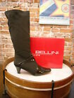 Bellini Estella Brown Stretch & Patent Tall Boots NEW