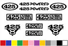 425 CI V8 POWERED 10 DECAL SET ENGINE STICKERS EMBLEMS FENDER BADGE DECALS