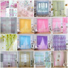 Colorful Print Sheer Curtain Panel Window Balcony Tulle Room Divider Valances AA