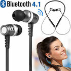 Magnetic Wireless Bluetooth 4.1 Earphones Headset Sports Stereo Headphones Mic