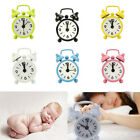 New Home Outdoor Cute Mini Cartoon Dial Number Round Desk Alarm Clock Gift US