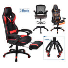 leather gaming chair - Office Racing Gaming Chair Drafting Stool Leather High Back Computer Desk Seat