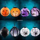 LED Paper Pumpkin Bat Spider Hanging Lantern Light Lamp Halloween Party Decor N9