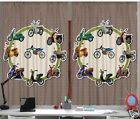 Bicycles Moped Scooter Teen CURTAIN PANEL Set Bike Motorc...