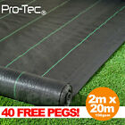 2m wide 100gsm weed control fabric ground cover membrane landscape Heavy Duty