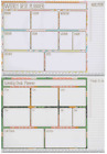 Weekly Desk Planner Pad Perforated Tear Off Pages, Things to Do Memo Column 6208