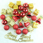 32pcs/Set Christmas Ornaments Balls Drums Bells Baubles Xmas Tree Pendant Decor