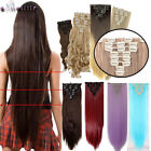 Full Head Curly Wavy Straight Clip in Hair Extensions Extension for human XY15
