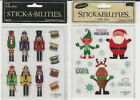 "U CHOOSE  Stickabilities CHRISTMAS flat Stickers  4X5"" (2 sheets)"