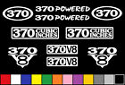 370 V8 POWERED 10 DECAL SET TRUCK ENGINE STICKERS EMBLEMS FENDER BADGE DECALS