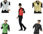 Men's Sequin Waistcoat Showtime Cabaret All Colours