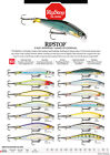 "RAPALA RIPSTOP, NEW FOR 2017, 3-1/2"" 1/4 oz, CHOICE OF COLORS"