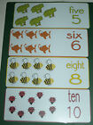 LARGE ANIMAL NUMBER COUNTING FLASH CARDS - EYFS- TEACHING RESOURCE- COLOURS