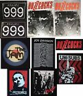THE CLASH JOY DIVISION THE JAM 999 BUZZCOCKS UK SUBS  punk  big back patches