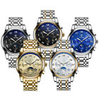 TEVISE Stainless Steel Watch Automatic Mechanical Waterproof Calendar Watch