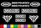 360 CI V8 POWERED 10 DECAL SET 5.9 ENGINE STICKERS EMBLEMS FENDER BADGE DECALS