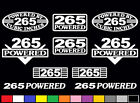 10 DECAL SET 265 CI V8 POWERED ENGINE STICKERS EMBLEMS SBC VINYL DECALS