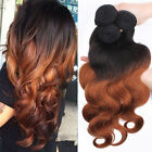 3pcs/set Brazilian Virgin Body Wave Human Hair Extesion Mixed Length Color#1b/30
