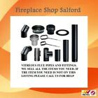 """5 inch 125mm and 6"""" inch 150mm stove pipe for wood burner and multifuel stoves"""